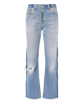 High-Rise Zip Detail Relaxed Jeans, DENIM-LT 3, hi-res
