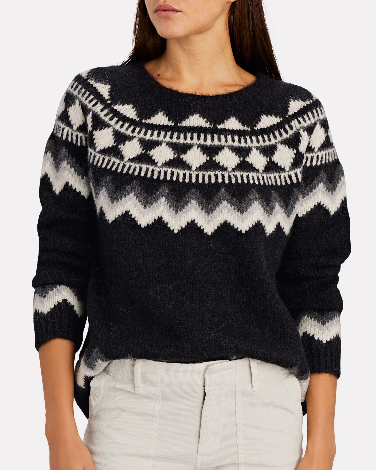 Adene Fair Isle Sweater, GREY, hi-res