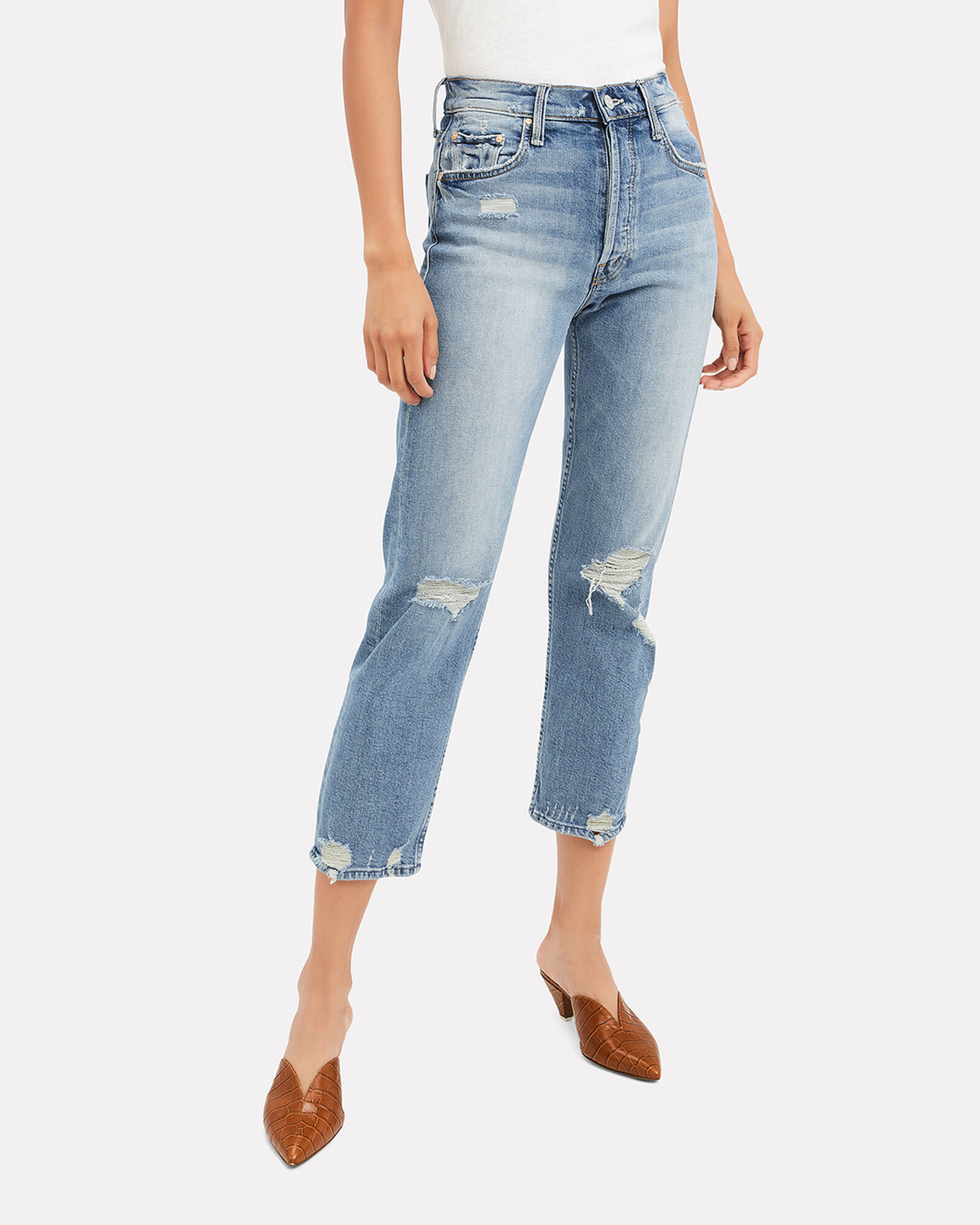 Tomcat Confession Cropped Jeans, BLUE-LT, hi-res