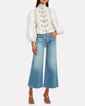 Brightside Embroidered Linen Blouse, IVORY, hi-res