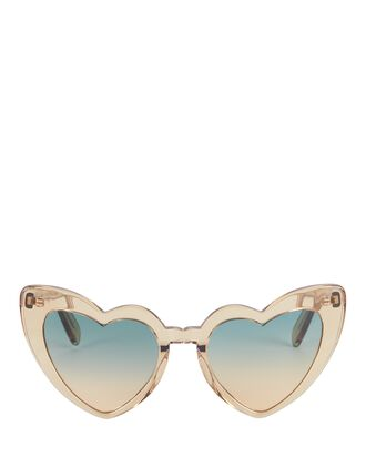 Loulou Heart-Shaped Sunglasses, BLUSH, hi-res
