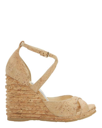 Alanah Cork Wedges, BEIGE, hi-res