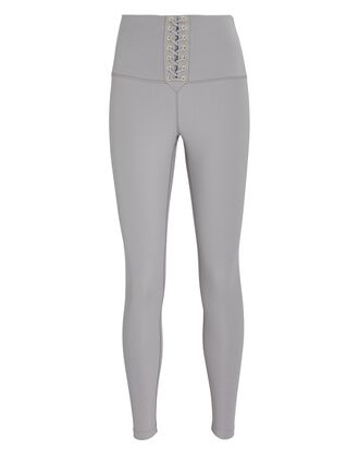 Lace-Up High-Rise Leggings, GREY, hi-res