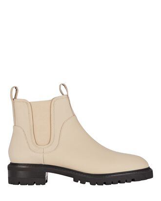 Miles Leather Chelsea Booties, BEIGE, hi-res