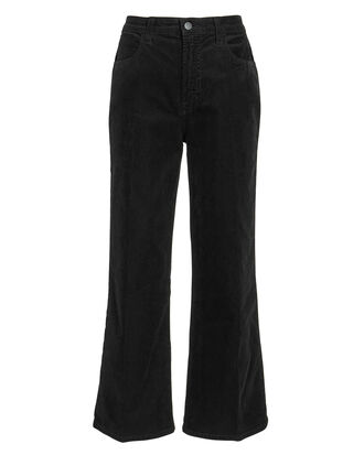Joan Corduroy Cropped Pants, BLACK, hi-res