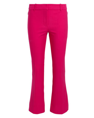 Pink Crop Flare Trousers, HOT PINK, hi-res