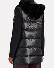 Hooded Faux Fur Puffer Coat, BLACK, hi-res