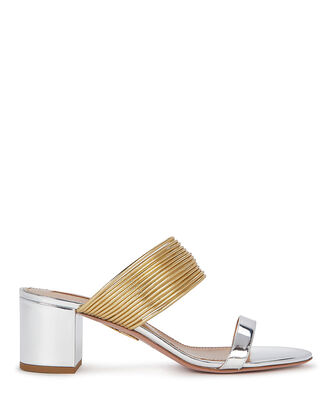 Rendez Vous 50 Metallic Sandals, SILVER, hi-res