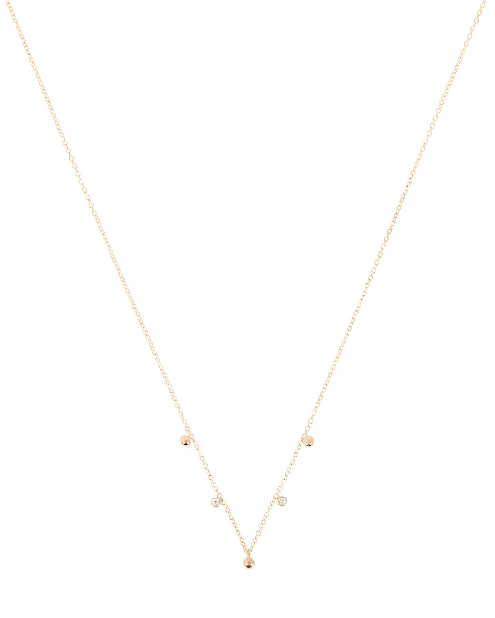 Scattered Diamond Chain Necklace, GOLD, hi-res