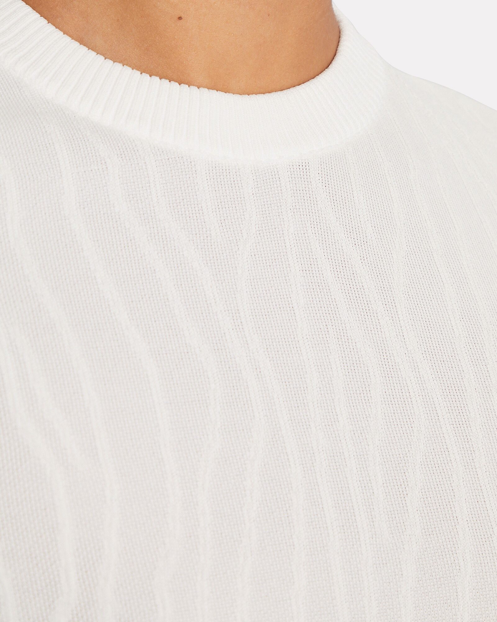 Crinkle Textured Knit Top, WHITE, hi-res
