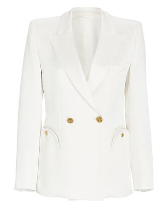 Novalis Charmer Double-Breasted Blazer, WHITE, hi-res