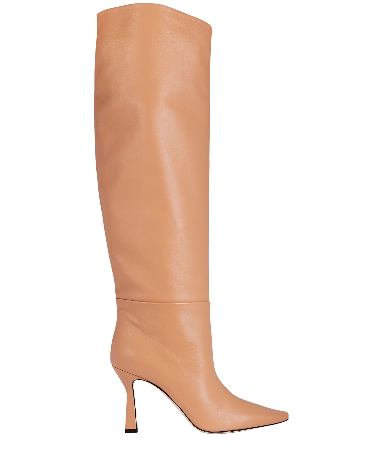 Lina Leather Knee-High Boots, BROWN, hi-res