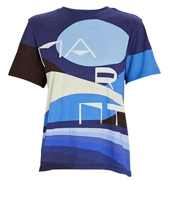 Zewel Graphic Print T-Shirt, BLUE-MED, hi-res