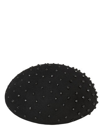 Zina Studded Beret, BLACK, hi-res