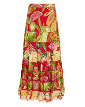 Macaw Tiered Maxi Skirt, MULTI, hi-res