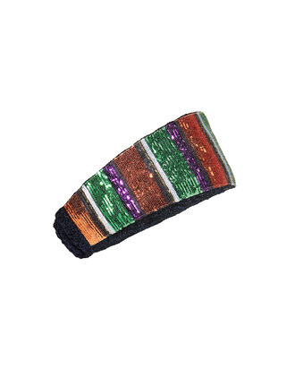 Vertical Striped Sequin Headband, MULTI, hi-res