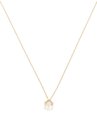 Lone Pearl Necklace, GOLD, hi-res