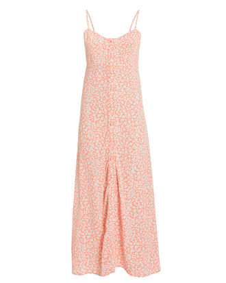 Jules Midi Dress, PEACH/FLORAL, hi-res