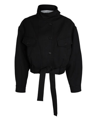 Marot Cotton-Wool Jacket, BLACK, hi-res