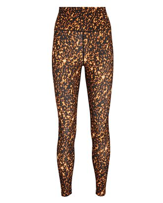 Printed High-Waist Leggings, ORANGE/BLACK, hi-res
