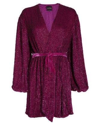 Gabrielle Sequin Mini Dress, MERLOT, hi-res