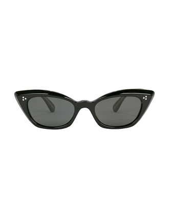 Bianka Cat Eye Sunglasses, BLACK, hi-res