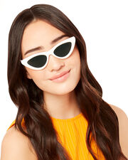 The Last Lolita White Cat Eye Sunglasses, WHITE, hi-res