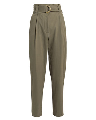 Diego Paperbag Waist Trousers, OLIVE, hi-res