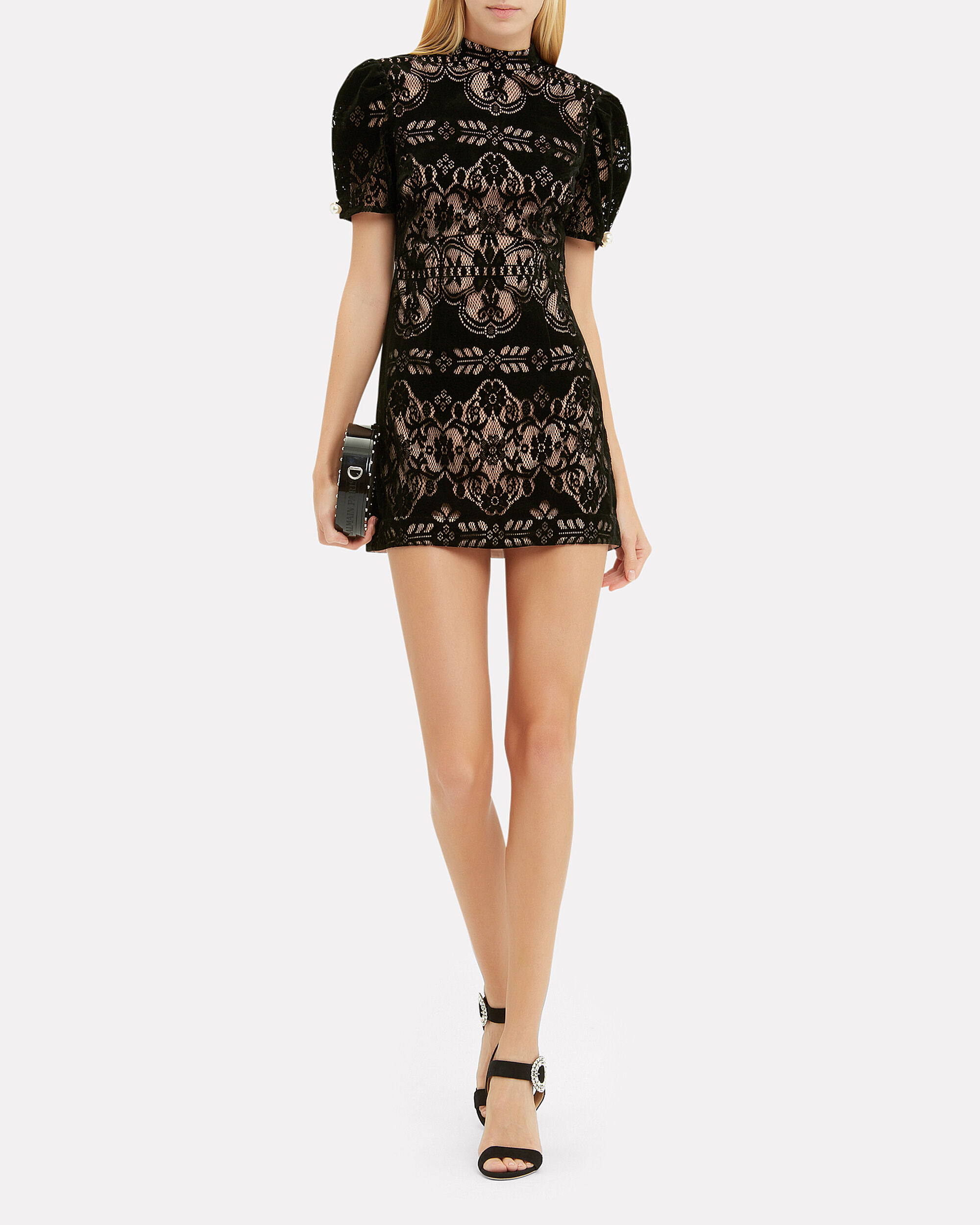 Eyes On Me Mini Dress, BLACK, hi-res