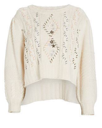 Leni Cable Knit Sweater, IVORY, hi-res