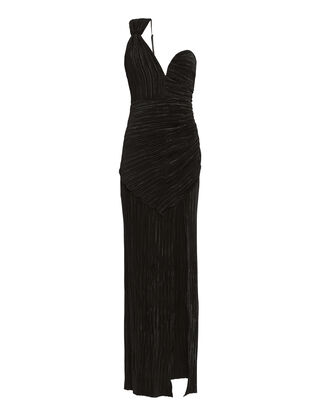 Woman To Woman One Shoulder Gown, BLACK, hi-res