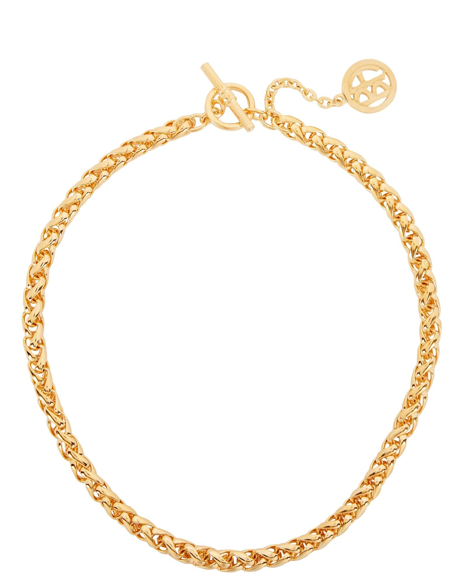 Braided Chain Necklace, GOLD, hi-res