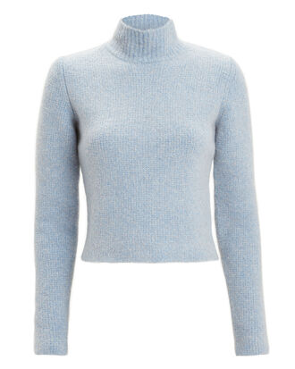 Mock Neck Sweater, LIGHT BLUE, hi-res