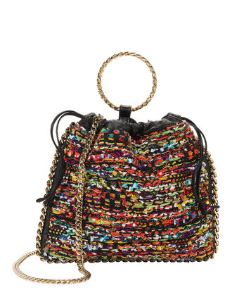 Multicolor Tweed B-Link Bracelet Backpack, MULTI, hi-res