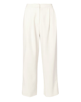 Cady Pleated Culottes, IVORY, hi-res