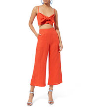 De Fiori Crop Top, RED, hi-res