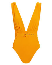 Belted Mango One Piece Swimsuit, MANGO, hi-res