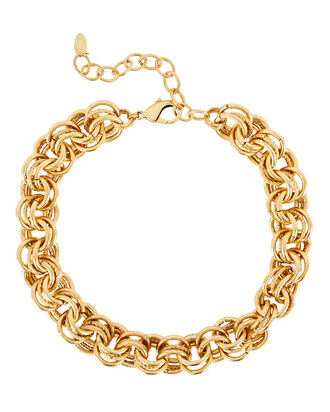 Adler Multi Circle Link Necklace, GOLD, hi-res