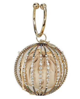 Trivia Crystal Bracelet Bag, GOLD, hi-res