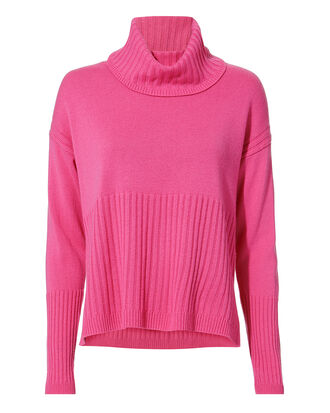 Cashmere Turtleneck Sweater, PINK, hi-res