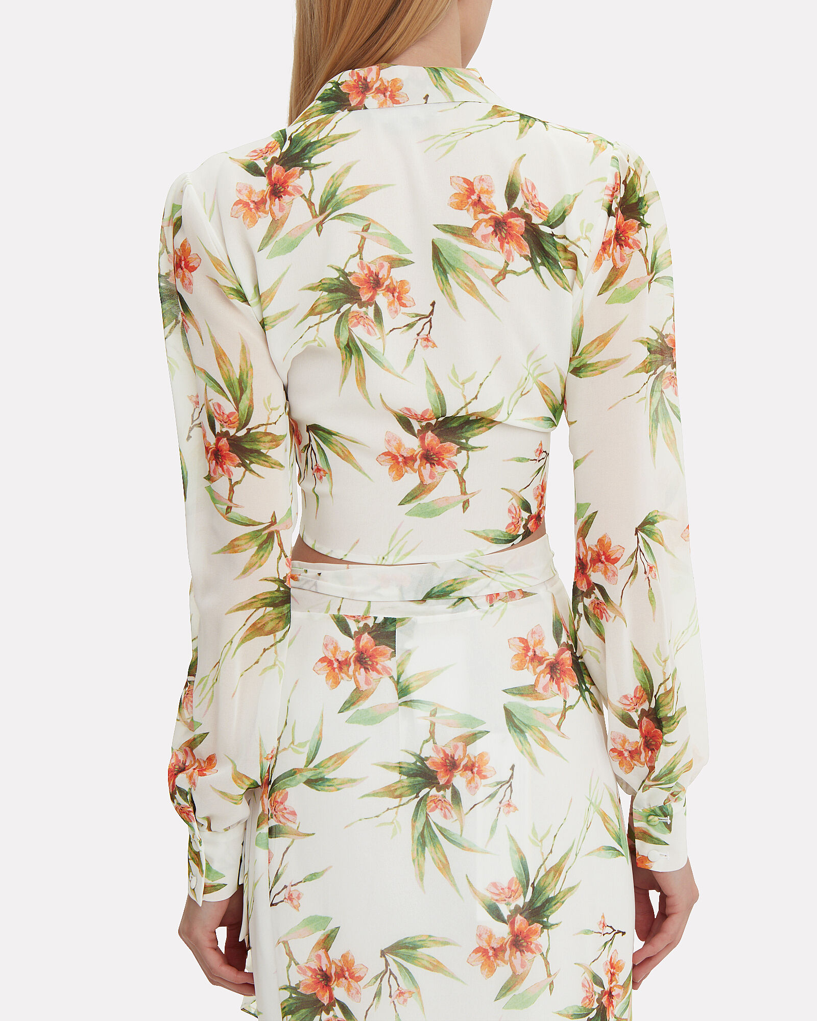 Floral Crop Blouse, MULTI, hi-res