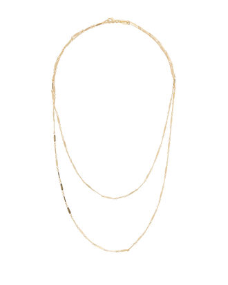 Gold Long Layering Necklace, GOLD, hi-res