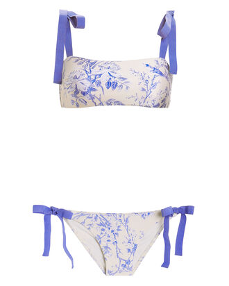 Verity Tie Bandeau Bikini Set, BLUE/IVORY, hi-res