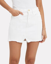 Le Denim Mini Skirt, WHITE DENIM, hi-res