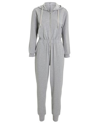 Leisure Hooded Sweatsuit, GREY, hi-res