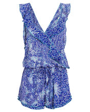 Yoana Ruffled Romper, BLUE/WHITE, hi-res