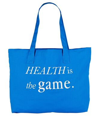 Health Is The Game Cotton Tote Bag, BLUE-MED, hi-res
