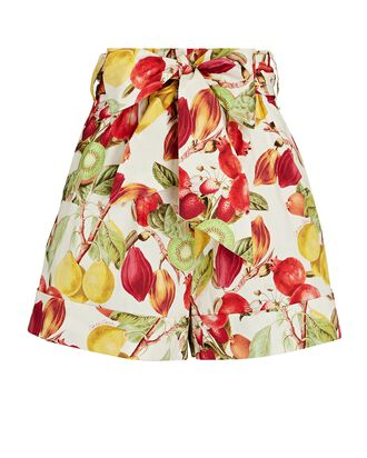 Whitney Tropical Fruit Shorts, MULTI, hi-res