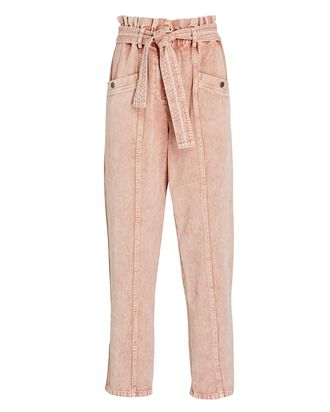 Betty Paperbag Jeans, ROSE ACID WASH, hi-res