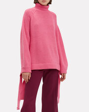 Wallerian Oversized Pink Sweater, PINK, hi-res